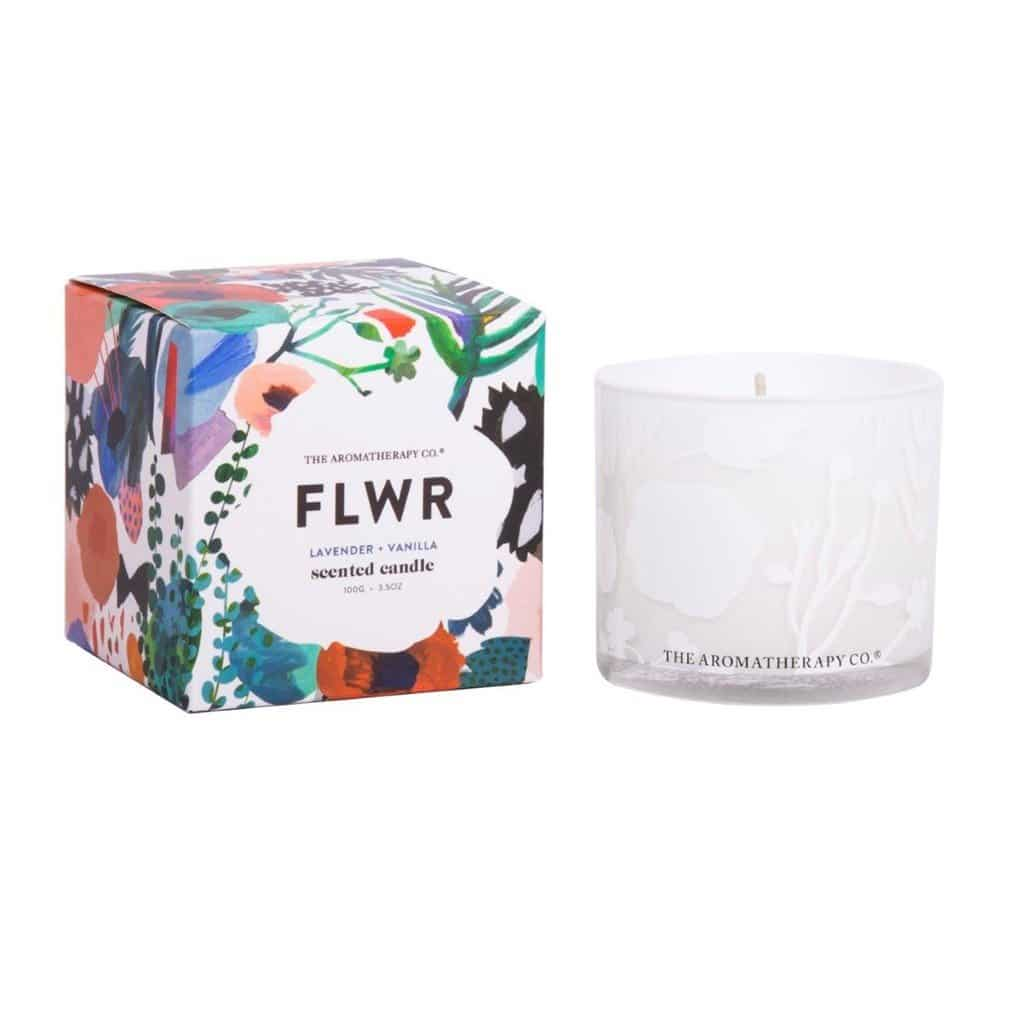 The Aromatherapy Co. - FLWR - Scented Candle 100g - Lavender & Vanilla