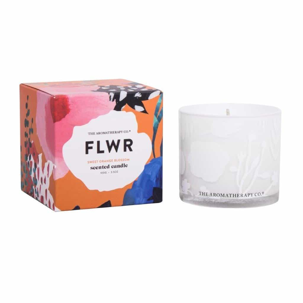 The Aromatherapy Co. - FLWR - Scented Candle 100g - Sweet Orange Blossom