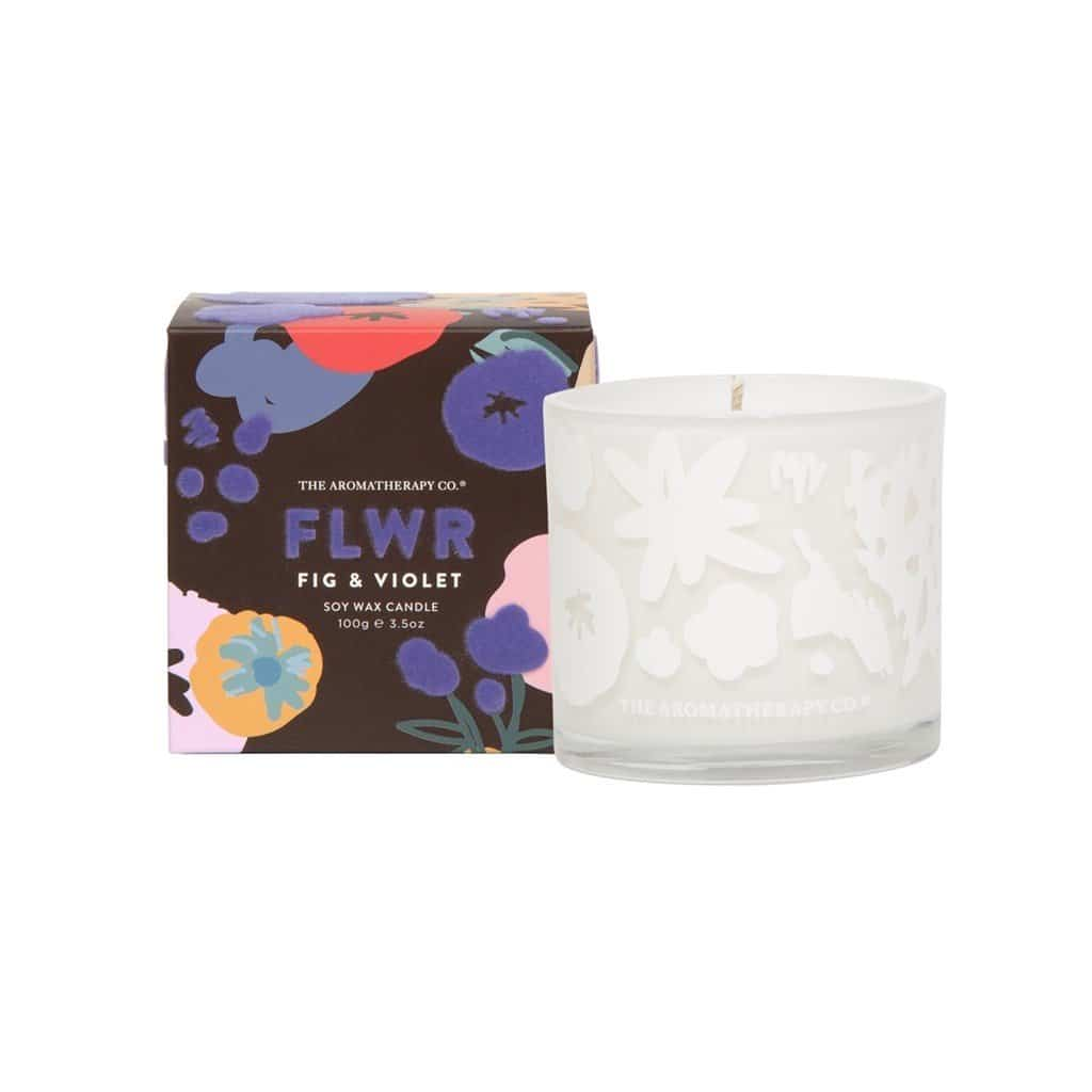 The Aromatherapy Co. - FLWR - Soy Wax Candle 100g - Fig & Violet