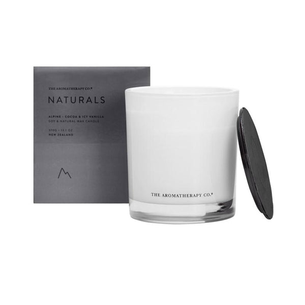 The Aromatherapy Co. - Naturals - Alpine - Candle 370g - Cocoa & Icy Vanilla