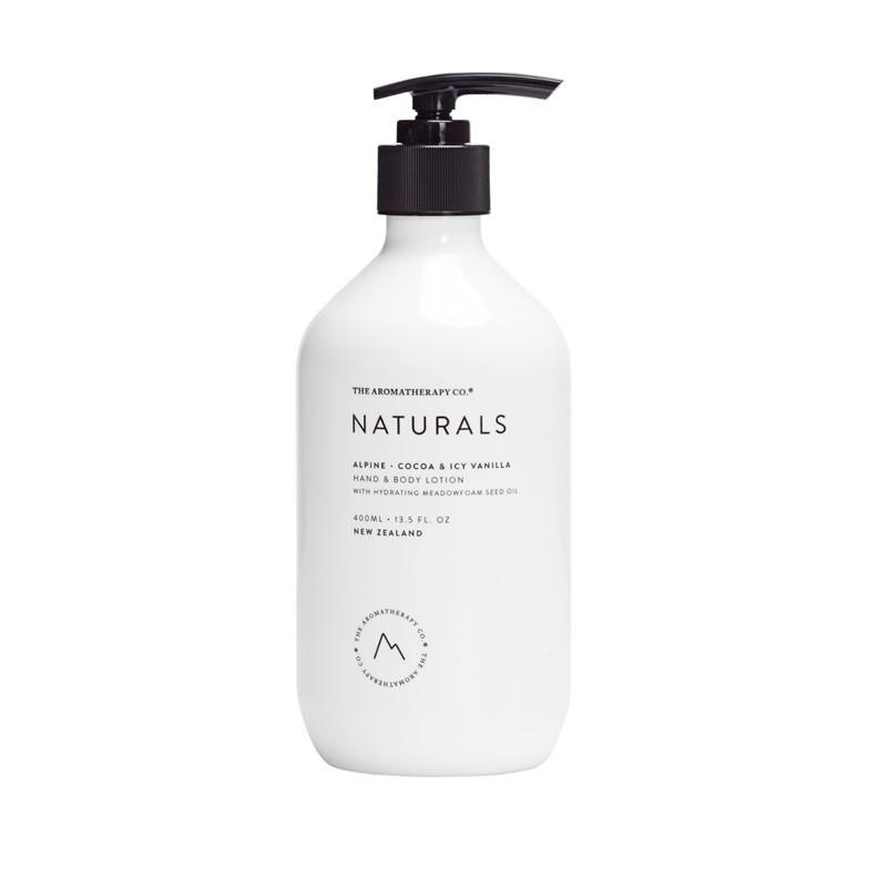 The Aromatherapy Co. - Naturals - Alpine - Hand & Body Lotion 400ml - Cocoa & Icy Vanilla