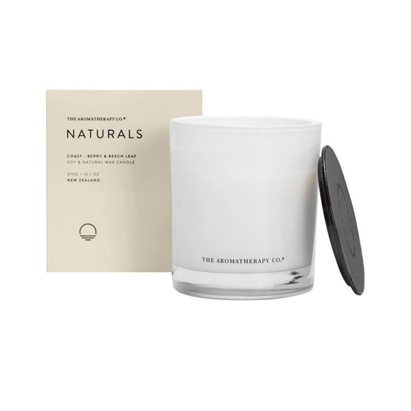 The Aromatherapy Co. - Naturals - Coast - Candle 370g - Berry & Beech Leaf
