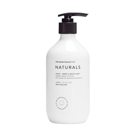 The Aromatherapy Co. - Naturals - Coast - Hand & Body Lotion 400ml - Berry & Beech Leaf