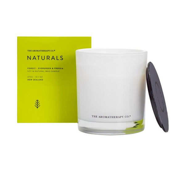 The Aromatherapy Co. - Naturals - Forest - Candle 370g - Evergreen & Freeesia