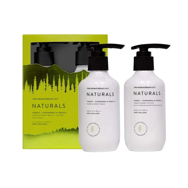 The Aromatherapy Co. - Naturals - Forest - Wash & Lotion Set - Evergreen & Freesia