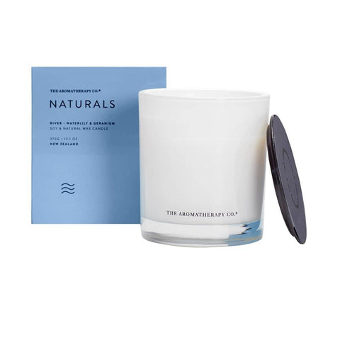 The Aromatherapy Co. - Naturals - River - Candle 370g - Waterlily & Geranium