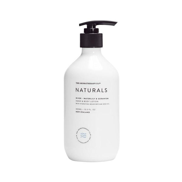 The Aromatherapy Co. - Naturals - River - Hand & Body Lotion 400ml - Waterlily & Geranium