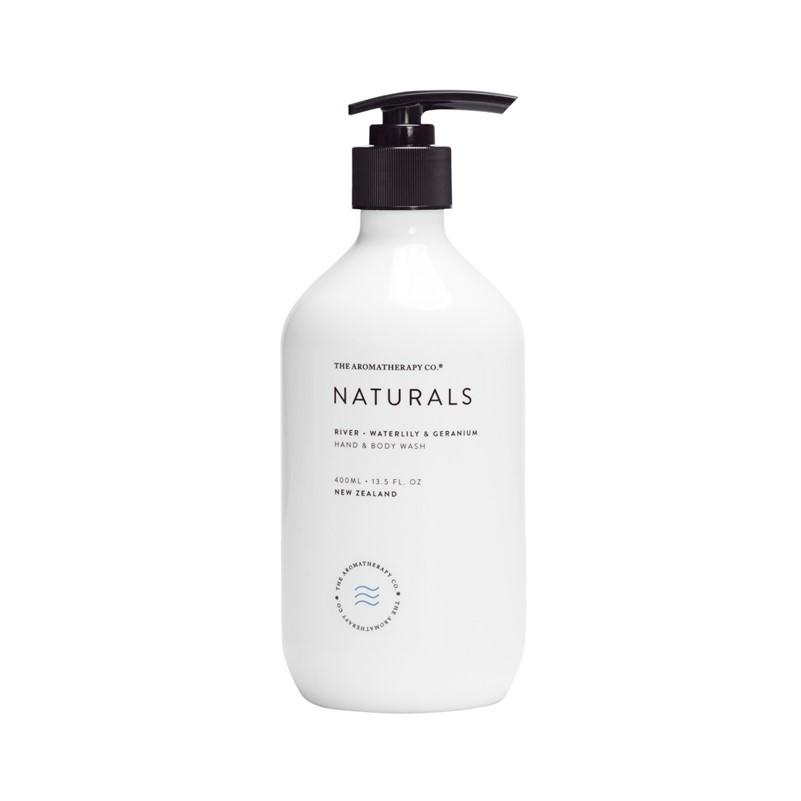 The Aromatherapy Co. - Naturals - River - Hand & Body Wash 400ml - Waterlily & Geranium