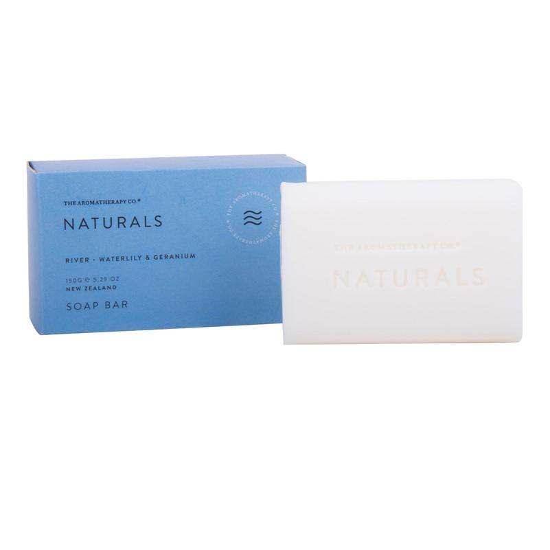 The Aromatherapy Co. - Naturals - River - Soap Bar 150g - Waterlily & Geranium
