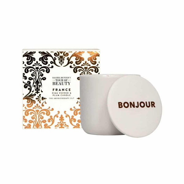 The Aromatherapy Co. - Rachel Hunter's Tour of Beauty - France - Candle 200g - Pink Pepper & Plum
