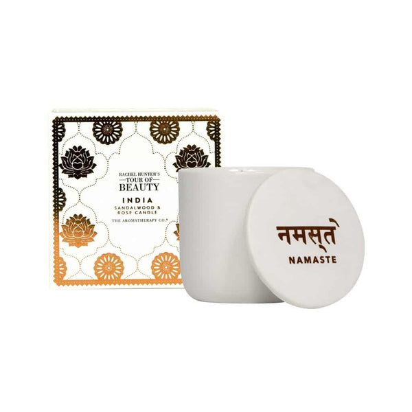 The Aromatherapy Co. - Rachel Hunter's Tour of Beauty - India - Candle 200g - Sandalwood & Rose