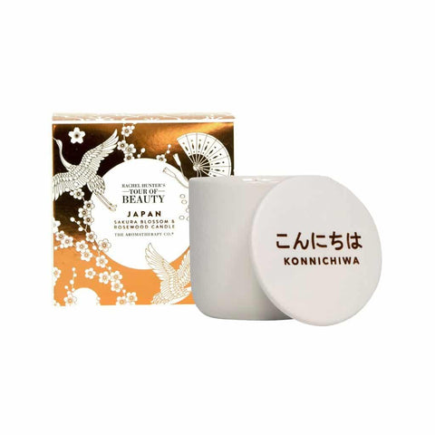 The Aromatherapy Co. - Rachel Hunter's Tour of Beauty - Japan - Candle 200g - Sakura Blossom & Rosewood