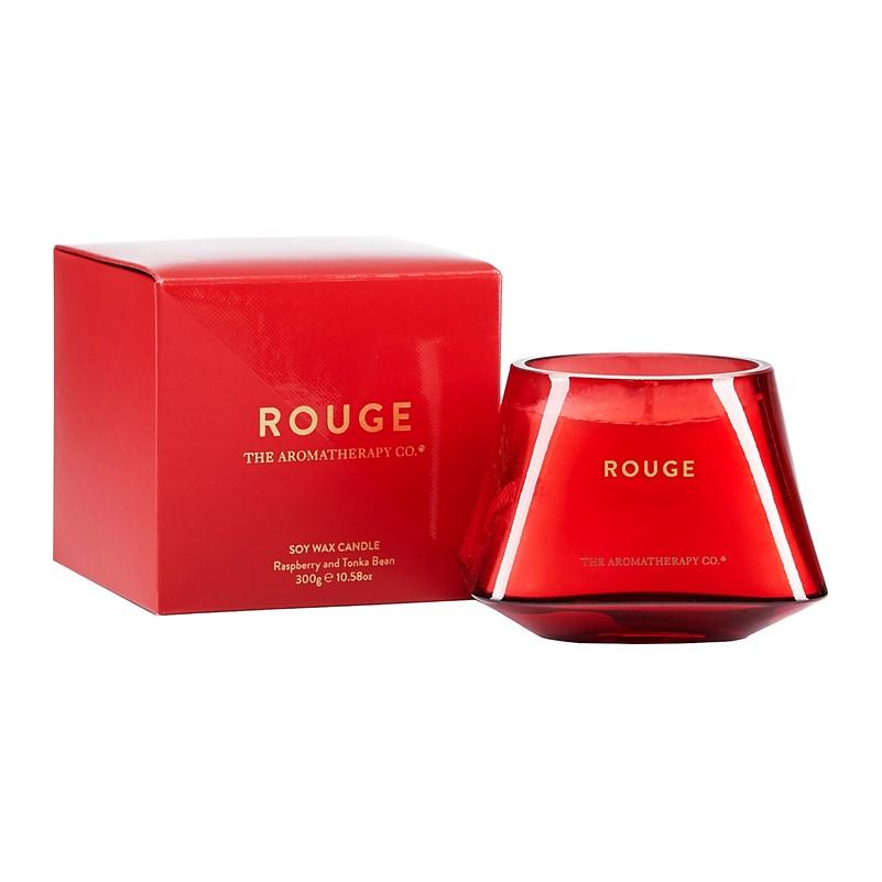 The Aromatherapy Co. - Rouge - Soy Wax Candle 300g - Raspberry & Tonka Bean