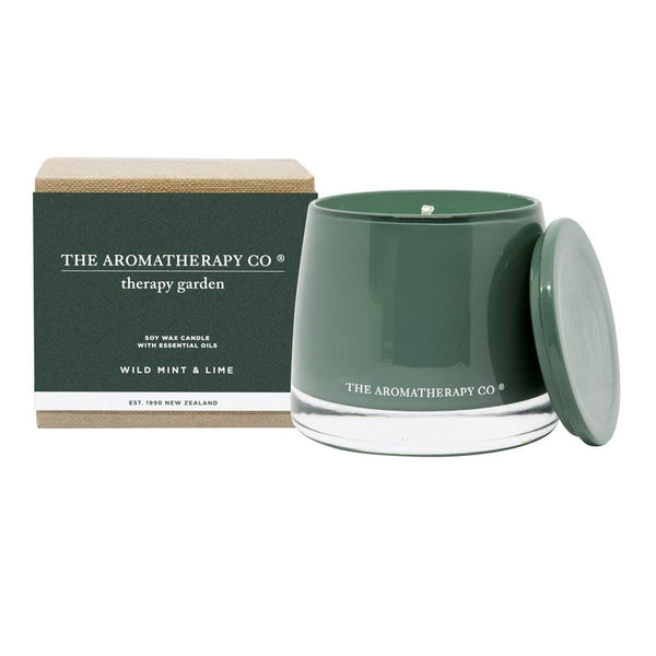 The Aromatherapy Co. - Therapy Garden - Soy Wax Candle 260g - Wild Mint & Lime