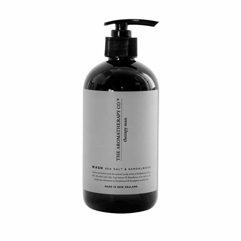 The Aromatherapy Co. - Therapy Man - Hand & Body Wash 500ml - Sea Salt & Sandalwood - The Aromatherapy Co - Oscura - Bath, Body & Home Fragrance