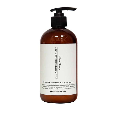 The Aromatherapy Co. - Therapy Range - Balance - Hand & Body Lotion 500ml - Cinnamon & Vanilla Bean