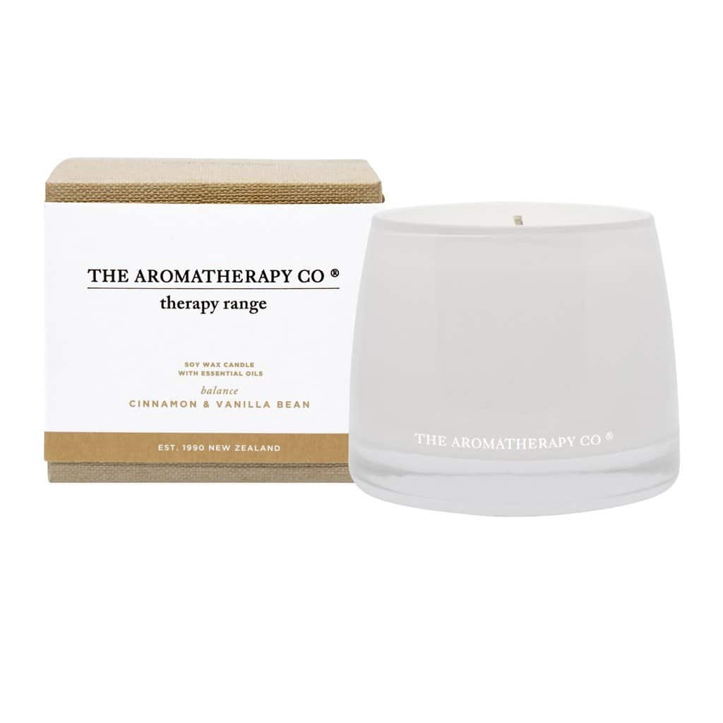 The Aromatherapy Co. - Therapy Range - Balance - Soy Wax Candle 260g - Cinnamon & Vanilla Bean