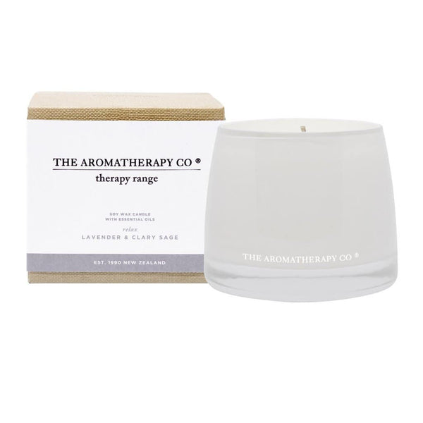 The Aromatherapy Co. - Therapy Range - Relax - Soy Wax Candle 260g - Lavender & Clary Sage