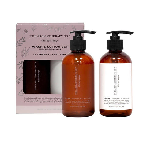 The Aromatherapy Co. - Therapy Range - Relax - Wash & Lotion Set - Lavender & Clary Sage