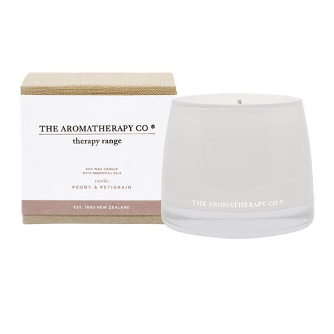 The Aromatherapy Co. - Therapy Range - Soothe - Soy Wax Candle 260g - Peony & Petigrain