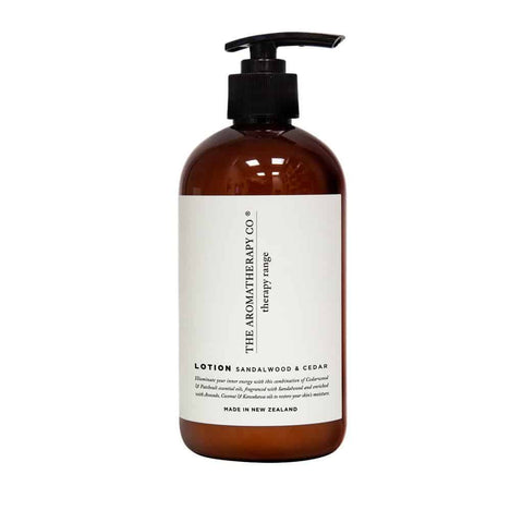 The Aromatherapy Co. - Therapy Range - Strength - Hand & Body Lotion 500ml - Sandalwood & Cedar