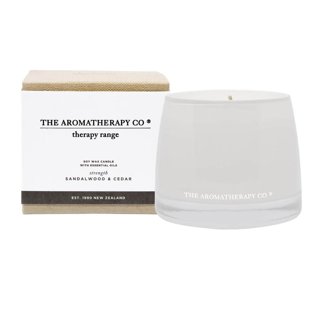 The Aromatherapy Co. - Therapy Range - Strength - Soy Wax Candle 260g - Sandalwood & Cedar