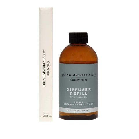 The Aromatherapy Co. - Therapy Range - Unwind- Diffuser Refill 250ml - Coconut & Water Flower