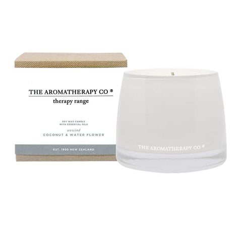 The Aromatherapy Co. - Therapy Range - Unwind - Soy Wax Candle 260g - Coconut & Water Flower