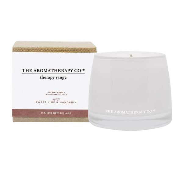 The Aromatherapy Co. - Therapy Range - Uplift - Soy Wax Candle 260g - Sweet Lime & Mandarin