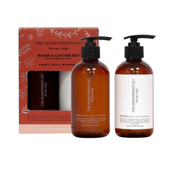 The Aromatherapy Co. - Therapy Range - Uplift - Wash & Lotion Set - Sweet Lime & Mandarin