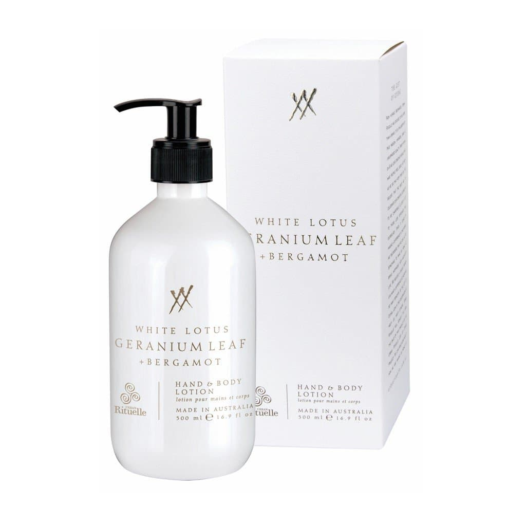 Urban Rituelle - Alchemy - Hand & Body Lotion 500ml - White Lotus, Geranium Leaf & Bergamot