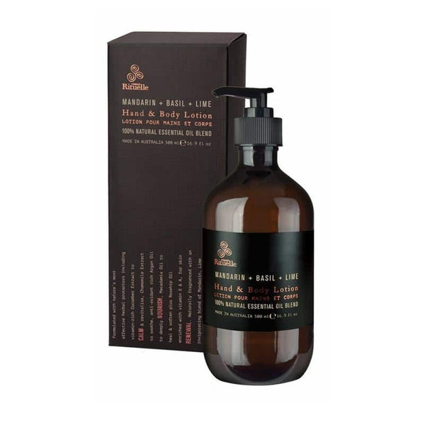 Urban Rituelle - Equilibrium - Hand & Body Lotion 500ml - Mandarin, Basil & Lime