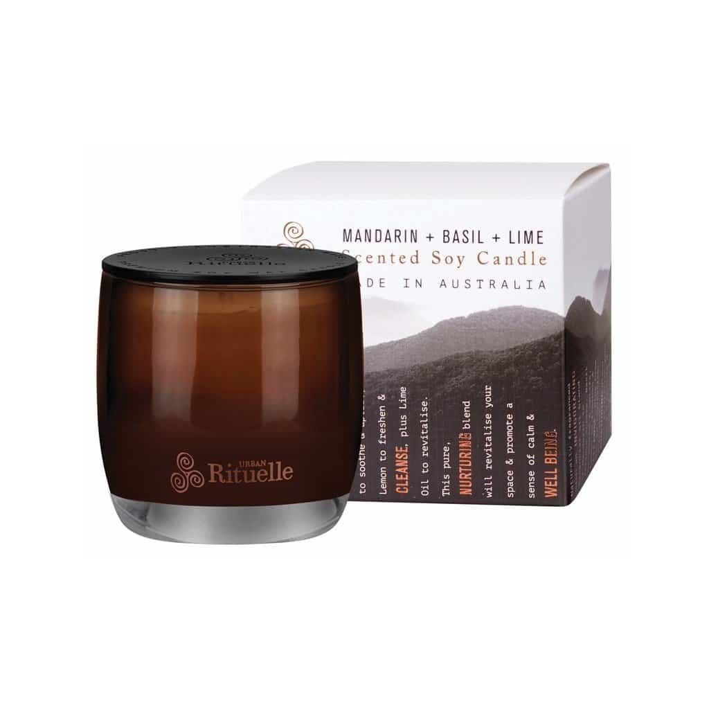 Urban Rituelle - Equilibrium - Scented Soy Candle 140g - Mandarin, Basil & Lime