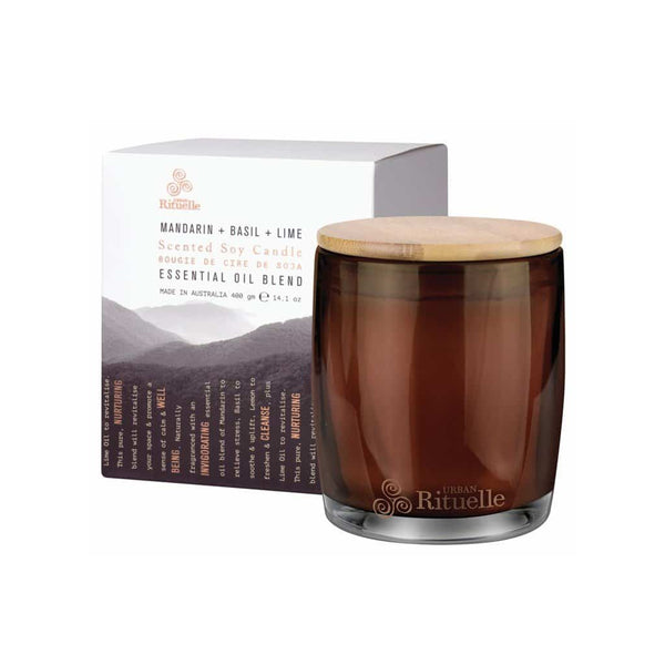 Urban Rituelle - Equilibrium - Scented Soy Candle 400g - Mandarin, Basil & Lime