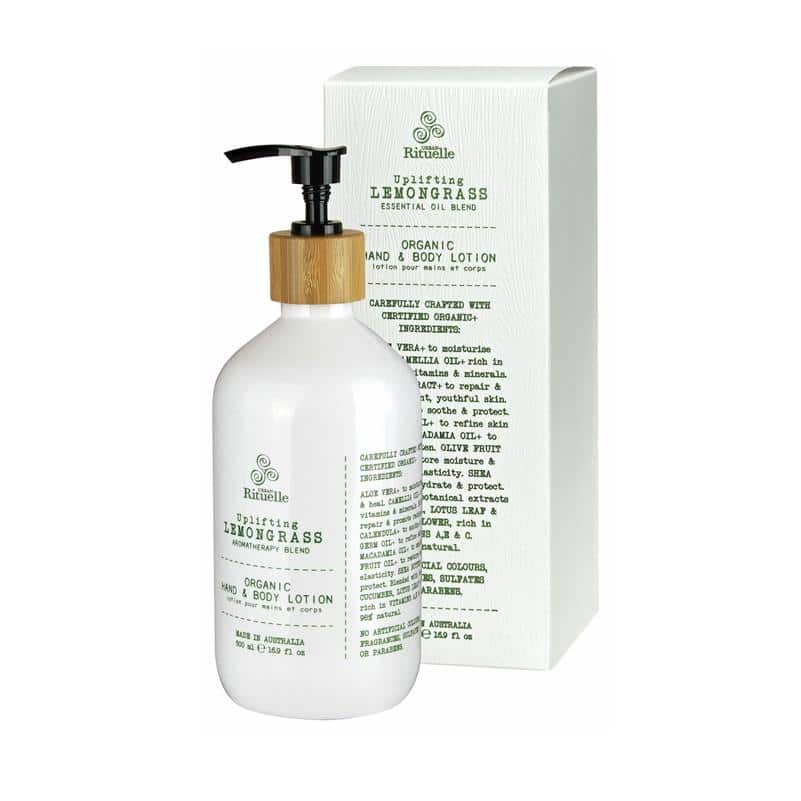 Urban Rituelle - Flourish - Organic Hand & Body Lotion 500ml - Lemongrass Blend