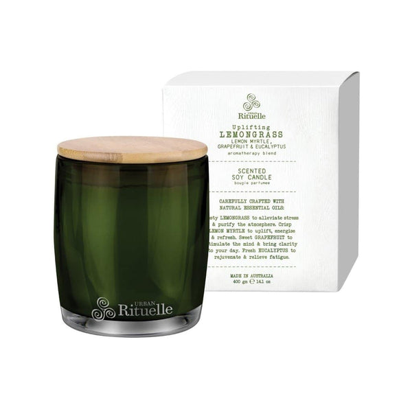 Urban Rituelle - Flourish - Scented Soy Candle 400g - Lemongrass Blend