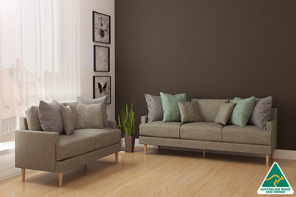 Adelyn 2 and 3 Seater - Warm Grey - Loungeout