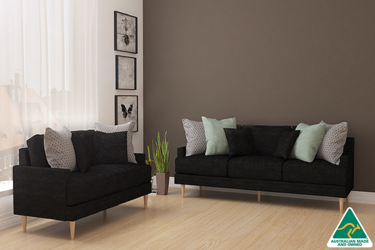 Adelyn 2 and 3 Seater - Black - Loungeout