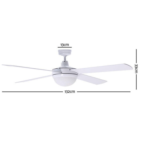 Devanti 52 Ceiling Fan - White""
