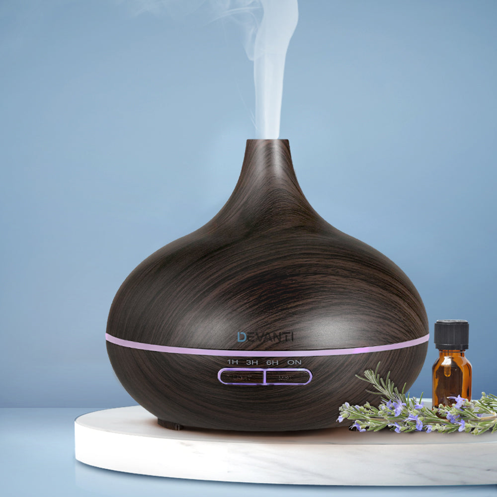 300ml 4-in-1 Aroma Diffuser - Dark Wood