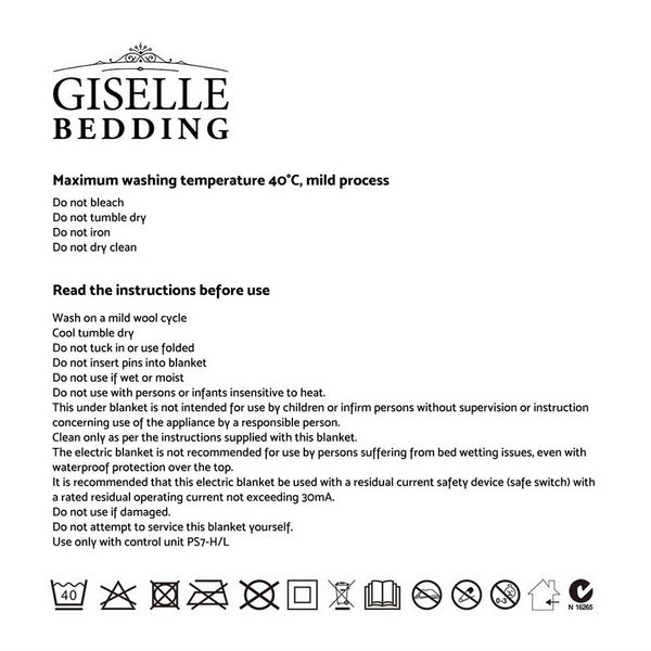 Giselle Bedding Electric Throw Blanket