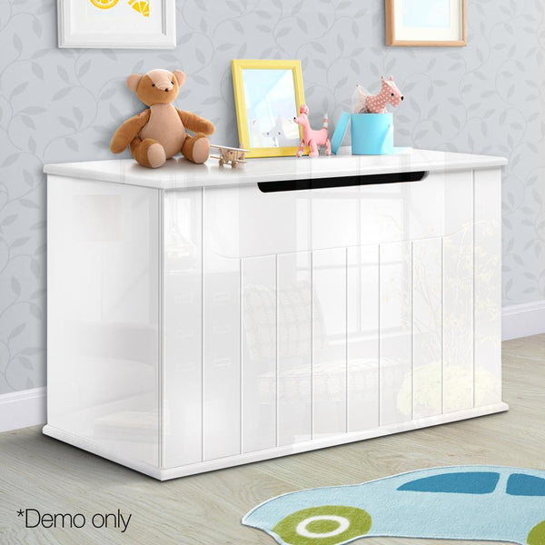 Artiss Wooden Baby Toy Box - White