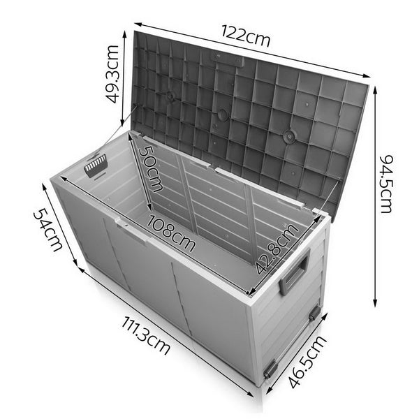 Giantz 290L Outdoor Storage Box - Black