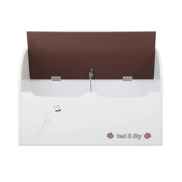 Keezi Kids Storage Box Bench - White & Brown
