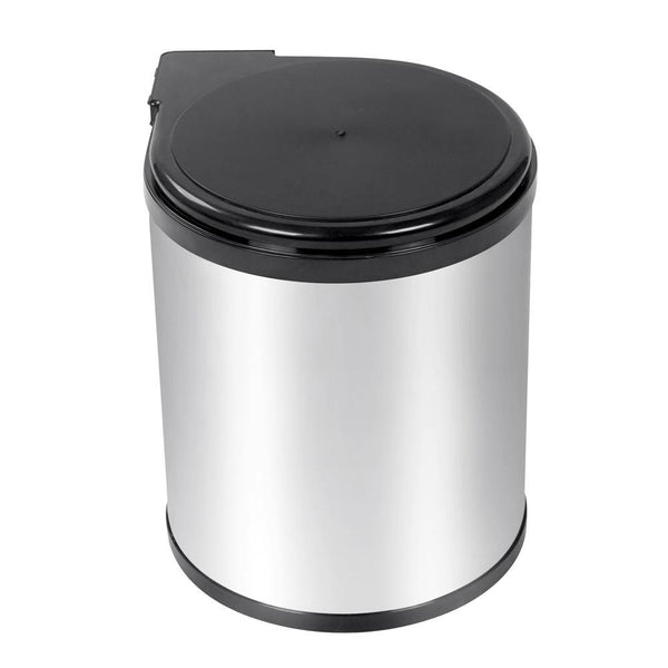 Kitchen Pull Out Stainless Steel Bin - Silver