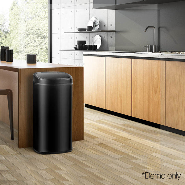 58L Motion Sensor Rubbish Bin - Black