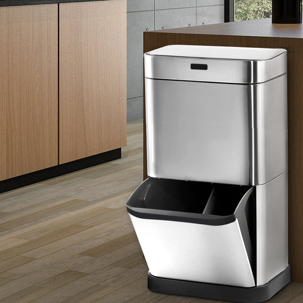 Devanti 70L Recycle Sensor Bin