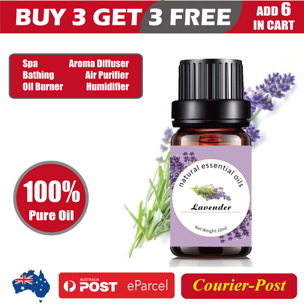 100% Pure & Natural Aromatherapy Diffuser Essential Oils - 10ml