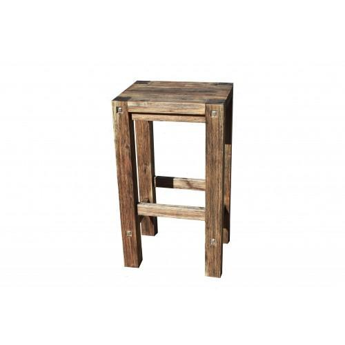 Sturdy Stool Black Brush Finish