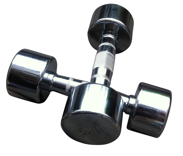 Chrome Dumbbell 3kg Each (6Kg Pair) Gym Weight Lifting